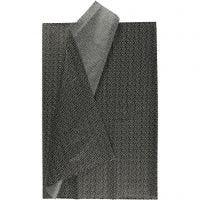 Silkespapper, 50x70 cm, 17 g, svart, 6 ark/ 1 förp.