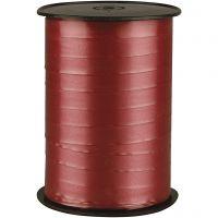 Presentsnöre, B: 10 mm, blank, rubin, 250 m/ 1 rl.