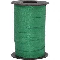 Presentsnören, B: 10 mm, glitter, grön, 100 m/ 1 rl.