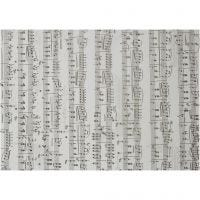 Pergamentpapper med noter, Noter, A4, 210x297 mm, 115 g, 10 ark/ 1 förp.