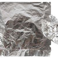 Slagmetall, 16x16 cm, silver, 25 ark/ 1 förp., 0,625 m2