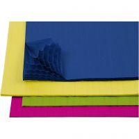 Dragspelspapper, 28x17,8 cm, mixade färger, 4x2 ark/ 1 förp.