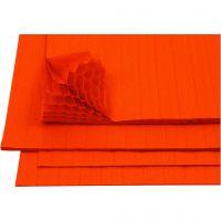 Dragspelspapper, 28x17,8 cm, orange, 8 ark/ 1 förp.