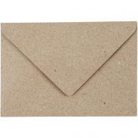 Kvist kuvert, kuvertstl. 7,8x11,5 cm, 120 g, beige, 50 st./ 1 förp.
