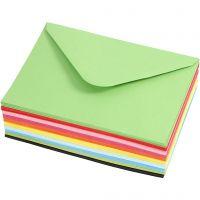 Kuvert, kuvertstl. 11,5x16 cm, 80 g, 10x10 st./ 1 förp.