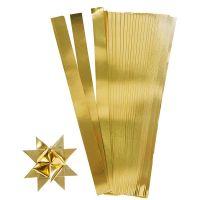Stjärnstrimlor, L: 45 cm, B: 10 mm, Dia. 4,5 cm, guld, 100 strimlor/ 1 förp.