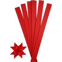Stjärnstrimlor, L: 73 cm, Dia. 11,5 cm, B: 25 mm, röd, 100 strimlor/ 1 förp.