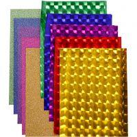 Dekofilm - sortiment, B: 35 cm, tjocklek 30+110 my, mixade färger, 10x2 m/ 1 förp.