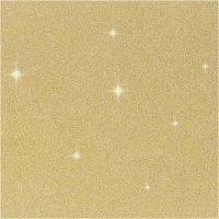 Glitterfilm, B: 35 cm, tjocklek 110 my, guld, 2 m/ 1 rl.