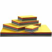 Creativ kartong, A3,A4,A5,A6, 180 g, mixade färger, 1500 mix. ark/ 1 förp.