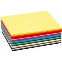 Creativ kartong, A6, 105x148 mm, 180 g, mixade färger, 120 mix. ark/ 1 förp.