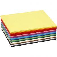 Creativ kartong, A6, 105x148 mm, 180 g, mixade färger, 300 mix. ark/ 1 förp.