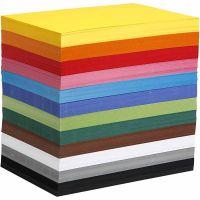Creativ kartong, A4, 210x297 mm, 180 g, mixade färger, 1200 mix. ark/ 1 förp.