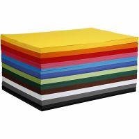 Creativ kartong, A2, 420x594 mm, 180 g, mixade färger, 12x100 ark/ 1 förp.
