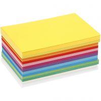 Vårkartong, A6, 105x148 mm, 180 g, mixade färger, 300 mix. ark/ 1 förp.