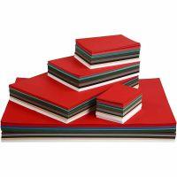 Julkartong, A2,A3,A4,A5,A6, 180 g, mixade färger, 1800 mix. ark/ 1 förp.