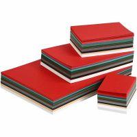 Julkartong, A3,A4,A5,A6, 180 g, mixade färger, 1500 mix. ark/ 1 förp.