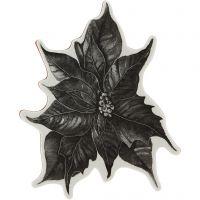 Gummistämpel, julstjärna, H: 5 mm, stl. 14x11 cm, 1 ark