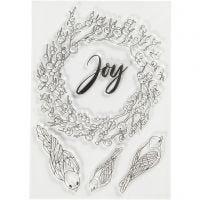 Stämpelmotiv, joy, stl. 10,5x15 cm, 1 ark