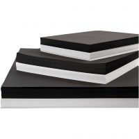 Kartong, A2,A3,A4, 200+250 g, svart, vit, 600 mix. ark/ 1 förp.