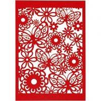 Spetskartong, 10,5x15 cm, 200 g, röd, 10 st./ 1 förp.