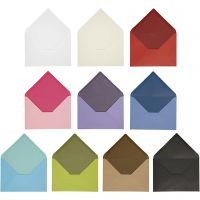 Kuvert, kuvertstl. 11,5x16 cm, Innehållet kan variera , 100 g, mixade färger, 30 förp./ 1 förp.