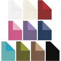 Strukturkartong, A4, 210x297 mm, 250 g, mixade färger, 30x10 ark/ 1 förp.