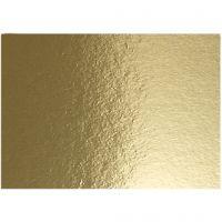Metallkartong, A4, 210x297 mm, 280 g, guld, 10 ark/ 1 förp.
