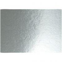 Metallkartong, A4, 210x297 mm, 280 g, silver, 10 ark/ 1 förp.