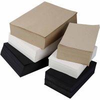 Karduspapper, A3,A4, 100 g, svart, grå, ädel, vit, 6000 mix. ark/ 1 förp.