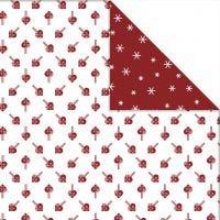 Designpapper, fläthjärtan & snöflingor, 30,5x30,5 cm, 180 g, 3 ark/ 1 förp.