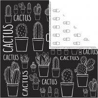 Designpapper, kaktus, 180 g, 5 ark/ 1 förp.