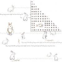 Designpapper, kaniner, 30,5x30,5 cm, 180 g, 5 ark/ 1 förp.