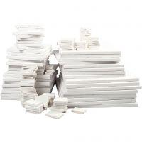 Målardukar, djup 2 cm, vit, 300 st./ 1 förp.