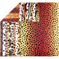 Mönstrad kartong, djur, A4, 210x297 mm, 300 g, 10 mix. ark/ 1 förp.