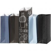 Papperspåsar, H: 21 cm, stl. 6x9 cm, 80 g, 5x10 förp./ 1 förp.
