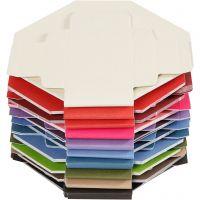 Färgade askar, stl. 5,5x5,5 cm, 250 g, 100 st./ 1 förp.