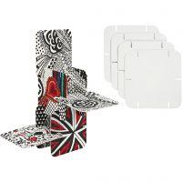 Puzzle konstruktionsbrickor, stl. 9,3x9,3 cm, vit, 20 st./ 1 förp.
