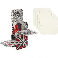 Puzzle konstruktionsbrickor, stl. 9,3x9,3 cm, vit, 200 st./ 1 förp.