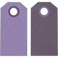 Manillamärken, stl. 6x3 cm, 250 g, lila/mörklila, 20 st./ 1 förp.