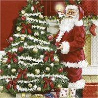 Servetter, Nostalgisk jul, stl. 33x33 cm, 20 st./ 1 förp.