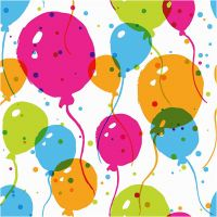 Servetter, ballonger, stl. 33x33 cm, 20 st./ 1 förp.