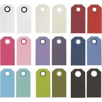 Manillamärken, stl. 6x3 cm, 250 g, mixade färger, 30 förp./ 1 förp.