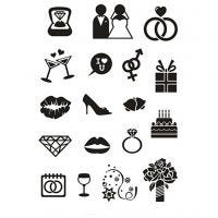 Clear Stamps, bröllop, 11x15,5 cm, 1 ark