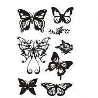 Clear Stamps, fjärilar, 11x15,5 cm, 1 ark