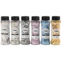 Terrazzo flakes, mixade färger, 6x90 g/ 1 förp.