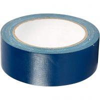 Textiltejp, B: 38 mm, blå, 25 m/ 1 rl.