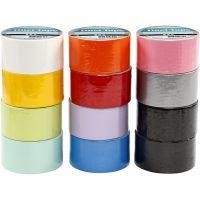 Gaffatejp, B: 48 mm, mixade färger, 12x5 m/ 1 förp.