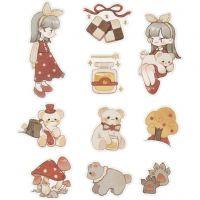 Washi stickers, nallebjörnar, stl. 25-70 mm, 30 st./ 1 förp.