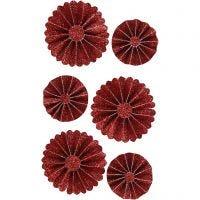 Rosetter, Dia. 35+50 mm, röd, 6 st./ 1 förp.